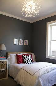 charcoal gray walls contemporary bedroom behr antique tin