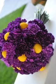 purple bouquets bouquet bridal purple and yellow bouquets