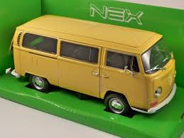 volkswagen yellow 1972 volkswagen t2 bus 1 24 scale model by welly