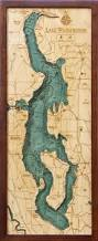 Gulf Of Mexico Depth Map by Custom Wood Charts Of Lake Washington From Carved Lake Art
