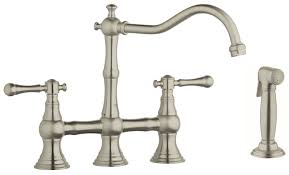 Kitchen Faucet Bridge Bridgeford 12 In 2 Handle Kitchen Faucet With Side Spray Touch
