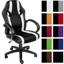 si e ergonomique voiture chaise de bureau fauteuil siège racing sport tissu voiture