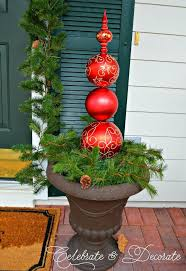 christmas ornament topiary hometalk