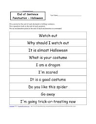 sentence punctuation worksheets worksheets
