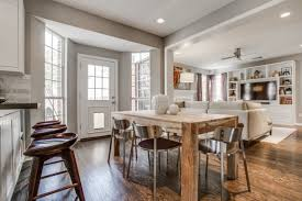 kitchen and dining room combo classic white wooden kitchen island
