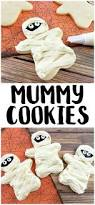 Decorated Halloween Sugar Cookies by Easy Mummy Cookies Recipe Not Quite Susie Homemaker