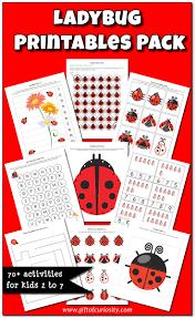 ladybug printables pack with more than 70 ladybug activities for