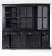 vaisselier cuisine pas cher chaise salle a manger baroque 12 buffet vaisselier bois noir 9