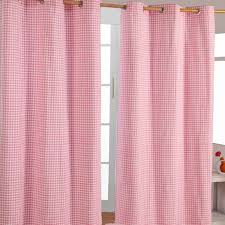 Pink Gingham Curtains Childrens Blue Gingham Curtains Functionalities Net