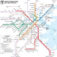 Subway Map Boston by Boston Metro Map U2022 Mapsof Net