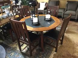 slate dining table set crate and barrel teak and slate dining table 4 chair set