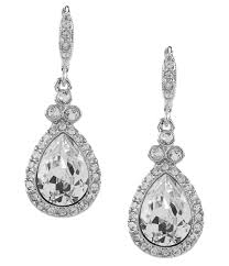 pear drop earrings givenchy pavé pear drop statement earrings dillards