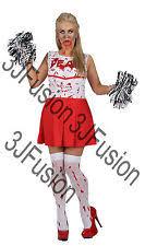 Dead Cheerleader Halloween Costume Cheerleader Fancy Dress Ebay