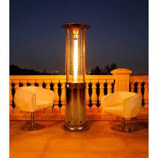 Patio Heater Glass Tube by Lava Heat Italia Opuslite Gm Lp Opus Lite 51 000 Btu 6 Ft Patio