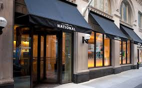 exterior design of the national bar and dining rooms new york