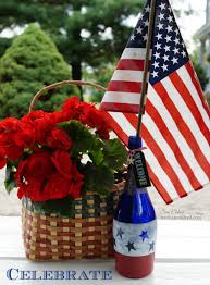 Red Flag White Flower How To Make A Patriotic Red White And Blue Etched Wine Bottle