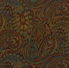 Woven Upholstery Fabric For Sofa Dark Red And Teal Woven Paisley Upholstery Fabric For Furniture