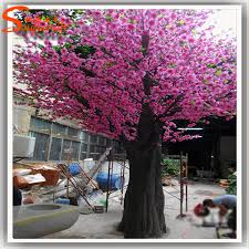 artificial cherry blossom tree fabric artificial pink cherry