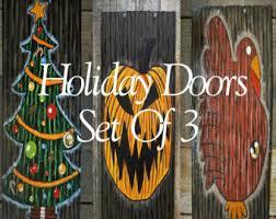 nightmare before christmas inspired holiday doors set of 7