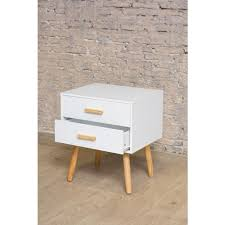 two drawer bedside table scandinavian two drawer retro bedside table
