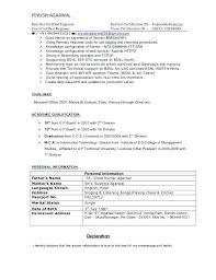Declaration In Resume Sample Sample Resume For Ccna Certified Resume Sample 5 Sample Resume For