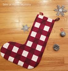 stockings sew at home mummy free pattern jumbo buffalo plaid christmas
