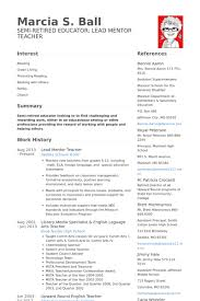 Teacher Resume Examples 2013 by Mentor Resume Samples Visualcv Resume Samples Database