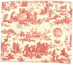 motif toile de jouy texile fabric toile de jouy balloon print national air and