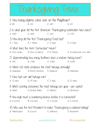 thanksgiving trivia a printable for your gathering the turquoise