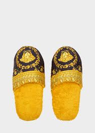 I Home Store by Versace I Baroque Bath Slippers Home Collection Online Store Eu