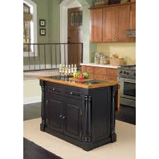 kitchen island black granite top home styles monarch distressed oak and granite top black wooden