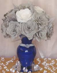 Blue Vases For Wedding Best 25 Royal Blue Centerpieces Ideas On Pinterest Blue