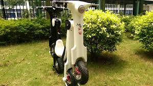 video the et scooter electric and foldable techvehi