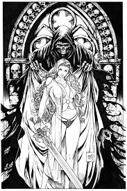 lady death cryptic edition by kromespawn deviantart com on