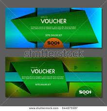 green gift voucher vector illustration gift voucher vector illustration stock vector 655973050