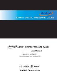 681 user manual calibration pressure