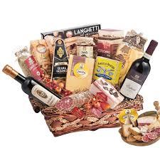 christmas wine gift baskets gourmet christmas gift basket