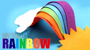 rainbow diy rainbow learn how to make rainbow kids art and