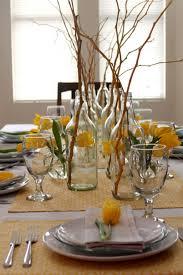 dining room centerpiece ideas everyday varnished teak wood table