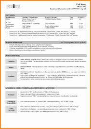 Fresher Resume Sample by 7 It Resume Format For Freshers Debt Spreadsheet
