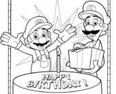 coloring pages printable happy birthday coloring pages coloring