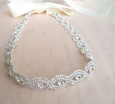 rhinestone headbands wedding headband rhinestone headband etsy wedding and weddings