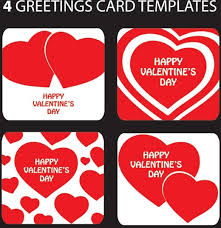 greeting card templates for valentine day free vector in