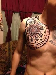 aztec tribal tattoos chest tattooic