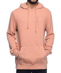 ninth hall discover dirty blush hoodie zumiez