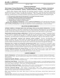 Resume Skills Summary Sample Sample Engineering Manager Resume Free Resume Example And