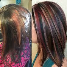 best summer highlights for auburn hair dark purple with blonde highlights hair hair hair pinterest