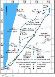 Map Of Al Roman Aqueducts Acre Akko Israel