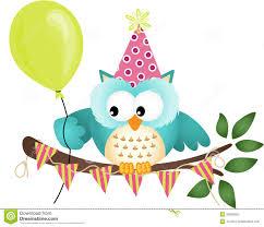 owl happy birthday stock photography image 33602952