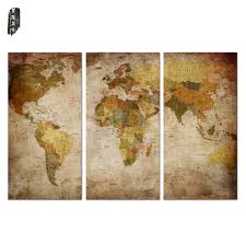 Self Adhesive World Map Decorating Online Buy Wholesale Posters From China Posters Wholesalers